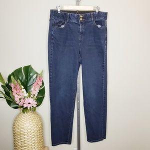 Lane Bryant High Rise Dark Wash Straight Leg Jeans